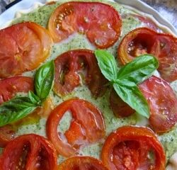 Mary's heirloom tomato tart
