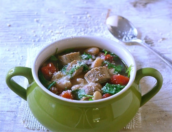 Quick Cannellini Bean Soup With Arugula