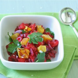 Fresh Cranberry and Roasted Pineapple Salsa
