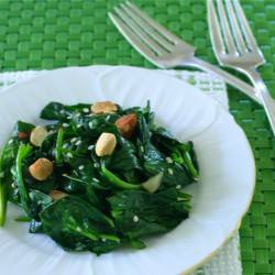 Chilled Sesame Spinach
