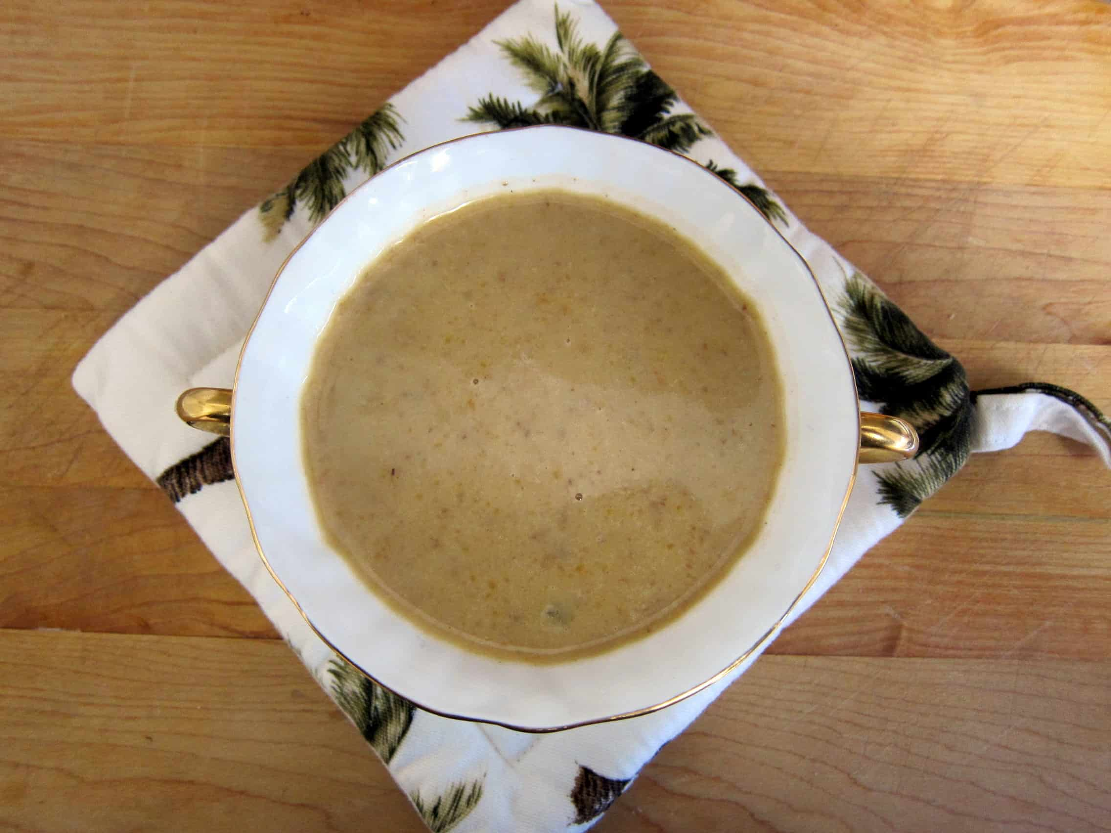 CHESTNUT SOUP FOR NANA:We lost dear Irene, my mother-in-law, a few short weeks ago.