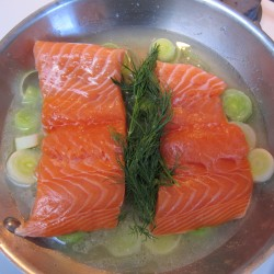 Kelsey's salmon with leeks