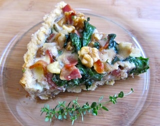 "This lovely tart comes from my friend, Winnie, and her terrific blog, ""Healthy Green Kitchen"". Thanks, Winnie!"