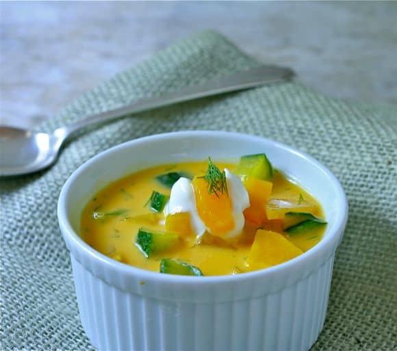 golden beet summer borscht