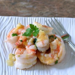 Shrimp in Ginger-Butter Sauce