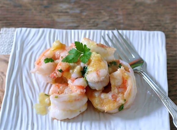 Shrimp in Ginger-Butter Sauce