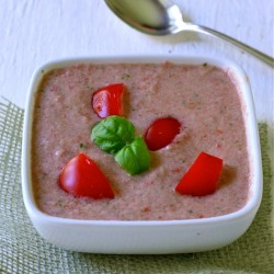 Chilled Tomato-Basil Soup