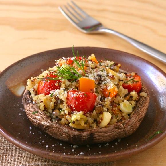 Quinoa-Stuffed Portobellos
